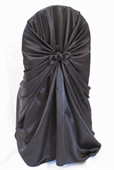 Chair Cover Black Satin